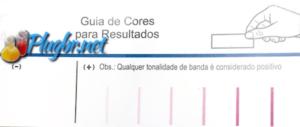 Guia de cores resultado teste de gravidez fraco ou forte