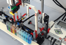 robô LEGO Mindstorms laboratório para alunos